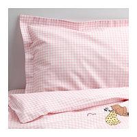 Постельное бельё комплект НАНИГ 3 предм, розовый, ИКЕА, IKEA, фото 1