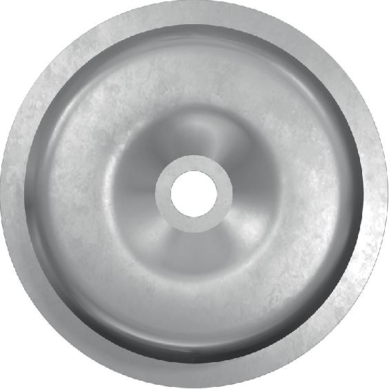 Элемент стальной тарельчатый для механической фиксации рулонных гидроизоляционных материалов