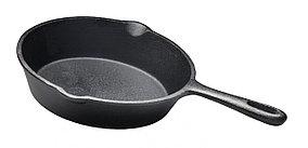 Сковорода чугунная 395 мм с ручкой Luxstahl [НЕ75]