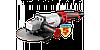 МАШИНА ЗУБР УГЛОШЛИФОВАЛЬНАЯ, Удлиненная рукоятка,180мм, 6000 Об/мин,1800Вт