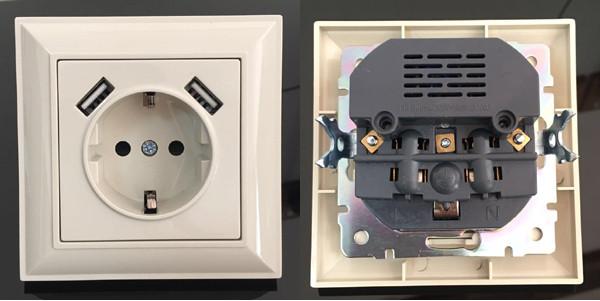 Евро USB-розетка