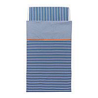 Наволочка, пододеяльникд/кроватки СКЭМТСАМ темно-синий ИКЕА, IKEA, фото 1