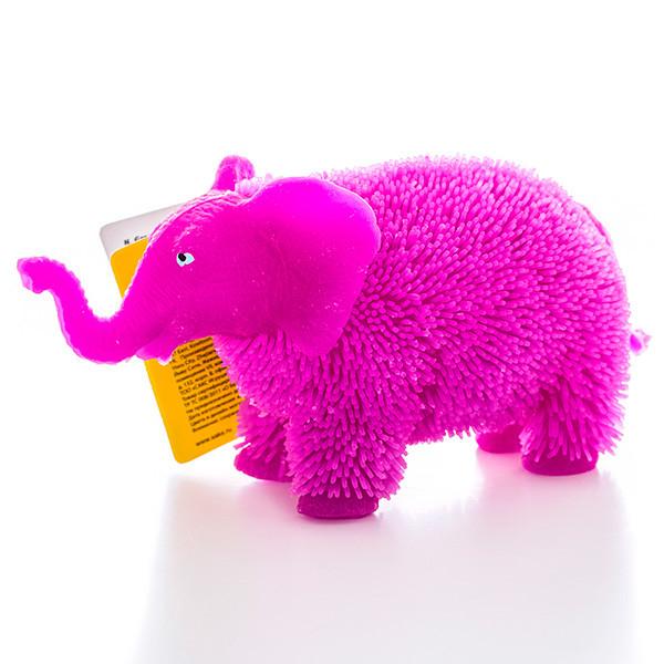 Игрушка с резиновым ворсом - Слон (свет)