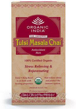 Органический Чай Тулси - Масала  (Organic India Tulsi masala25пакетиков