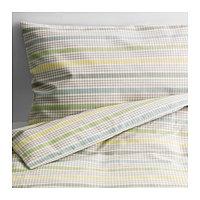 Пододеяльник, наволочка д/кроватки ДРЁМЛАНД серый ИКЕА, IKEA, фото 1