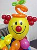 Клоун с букетом