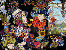 Постер Петра Фролова Царь цветов, холст 55см*42см.