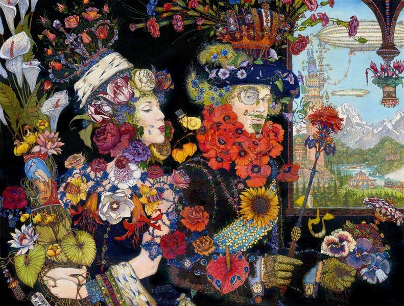 Постер Азбука. Царь цветов. Петр Фролова, холст, 70х53
