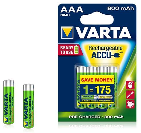Аккумулятор R2U  Micro 800mAh 1.2V-HR03/AAA (4шт)