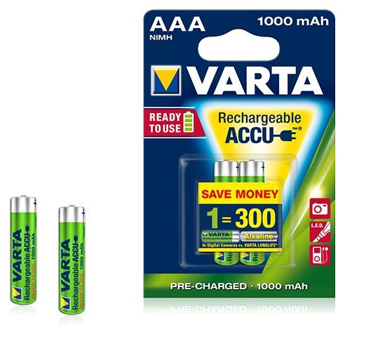 Аккумулятор R2U Micro 1000mAh 1.2V - HR03/AAA (2 шт)