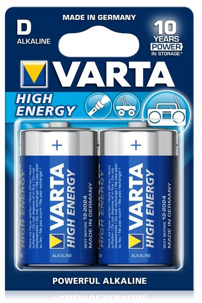 Батарейка High Energy Mono 1.5V - LR20/D (2 шт)