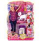 Кукла Барби ухаживает за кошкой/ BDH76 Барби. Набор по уходу за котёнком, фото 2