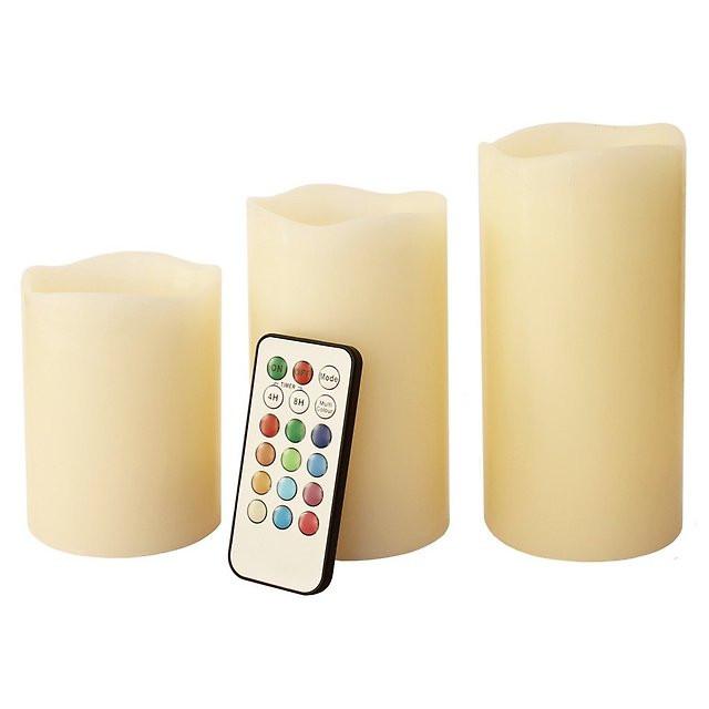 Электронные свечи (набор 3 шт.) с пультом управления