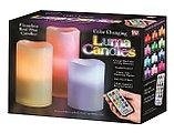Электронные свечи (набор 3 шт.) с пультом управления, фото 4