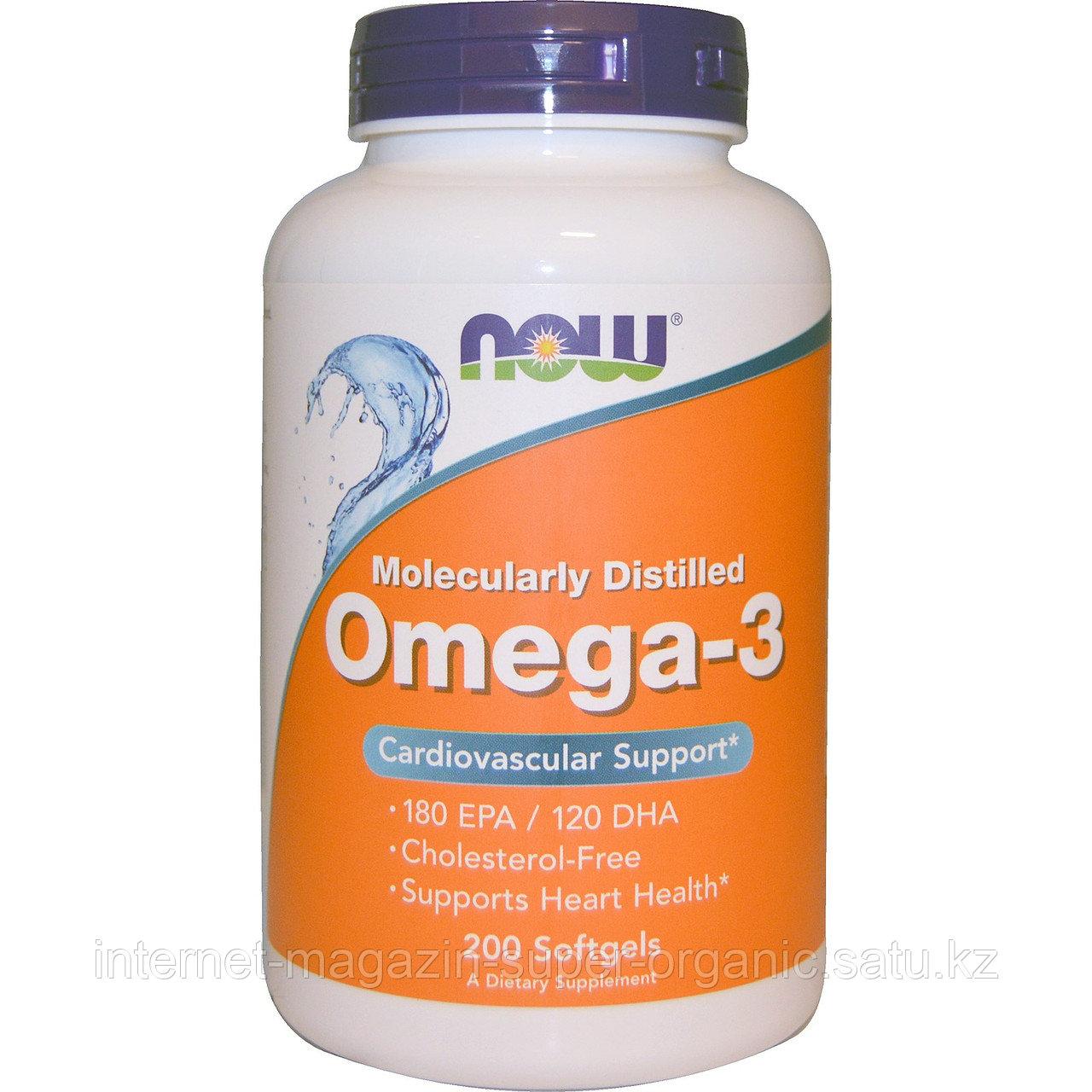Омега 3, рыбий жир, 200 капсул, 180 ЭПК / 120 ДГК, Omega-3