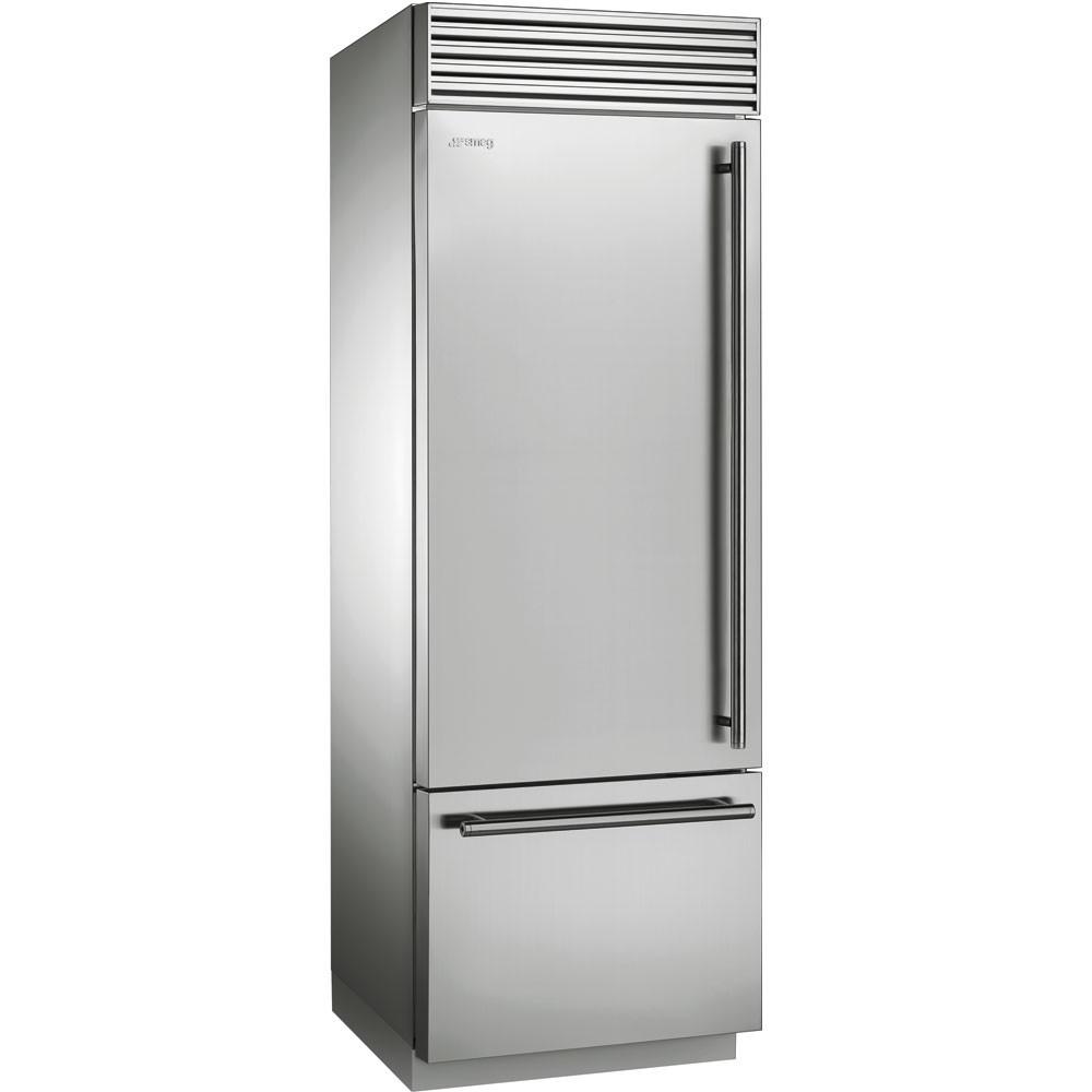 Холодильник нержавейка на 74 см Smeg RF376LSIX