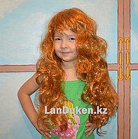 Рыжий карнавальный парик с челкой для тематической вечеринки (55 см)