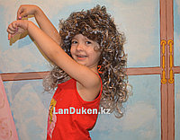 Серебристо-черный карнавальный парик с челкой для тематической вечеринки (55 см)