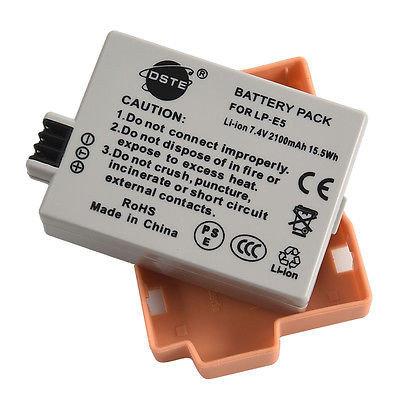 Аккумуляторы LP-E5 от DSTE на Canon 1000D/450D/500D/Kiss F/Kiss X2/ Rebel, фото 2