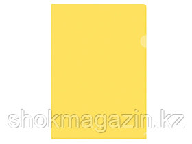 Папка-уголок прозрачная желтая