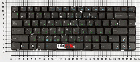 Клавиатура для ноутбука Asus A42 / K42 / K43  ENG,RU, фото 2