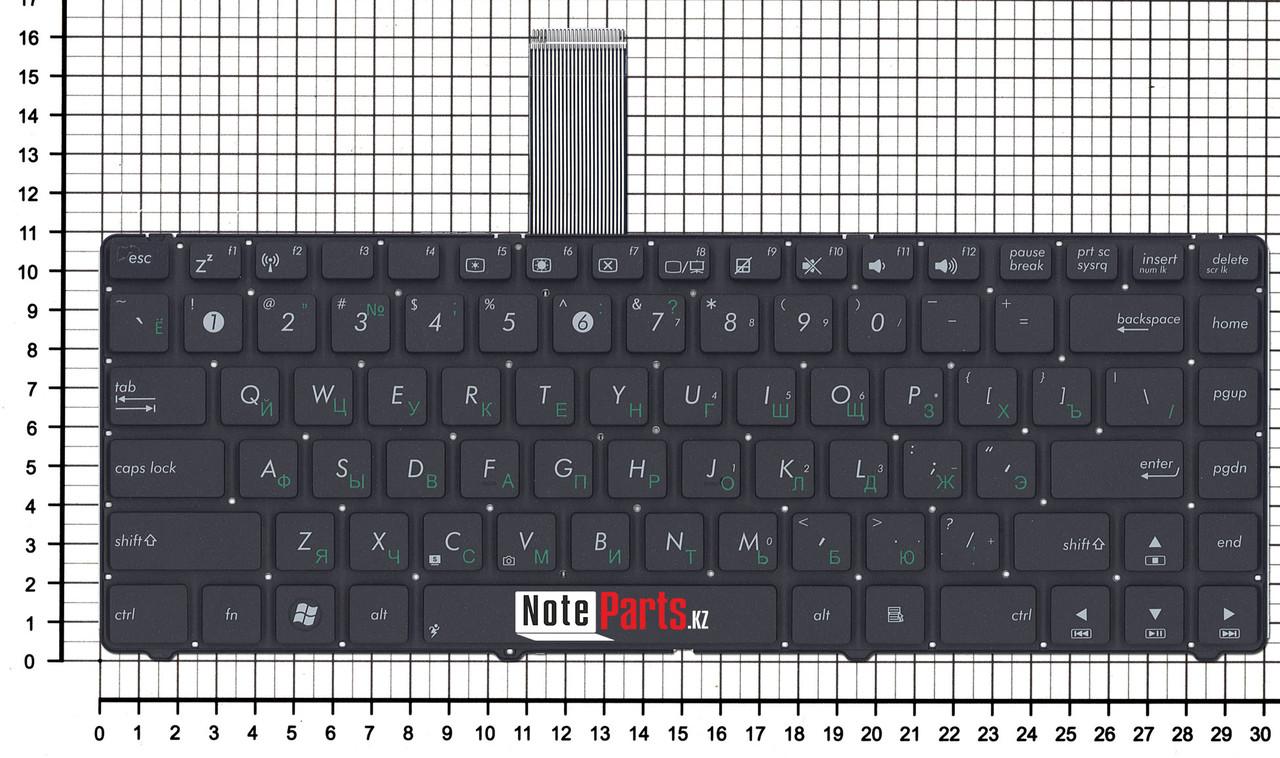 Клавиатура для ноутбука Asus A45, K45, U46 черная без рамки