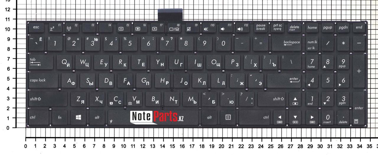 Клавиатура для ноутбука ASUS X502C / X502CA / F502C  RU, шлейф 10 см