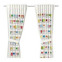 Гардина с прихватом ХЕММАХОС 1 пара разноцветный ИКЕА, IKEA, фото 1