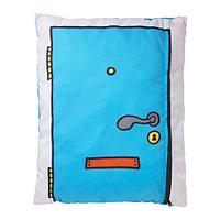 Подушка ХЕММАХОС бирюзовый ИКЕА, IKEA, фото 1