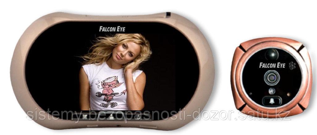 Дверной видеоглазок с функцией звонка FE-VE03 (медь) Falcon Eye