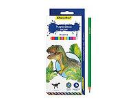 """Карандаши цветные """"Динозавры"""" 24 цвета"""