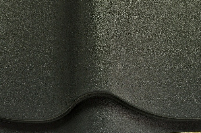 Металлочерепица Монтеррей Ral7024 (серый мат)