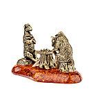 Сувенир Игра в шахматы. Янтарь, ручная работа., фото 2