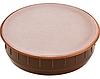 Заглушка отверстия 35 мм, пластм. коричневая