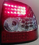 Фонари задние диодные красно-белые Лада Приора, фото 5