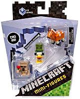 Minecraft Набор из 3 минифигурок (5 сезон), Железный Голем, Зомби, Лошадь