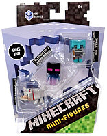 Minecraft Набор из 3 минифигурок (5 сезон) - Волк, Эндерман, Скелет