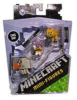 Minecraft Набор из 3 минифигурок (5 сезон) - Гаст, Стив, Оцелот
