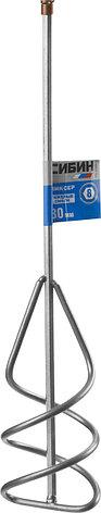 Миксер СИБИН для песчано-гравийных смесей, шестигранный хвостовик, 80х400мм, фото 2