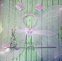 Карнавальные крылышки Фея,палочка и ободок 7 цветов