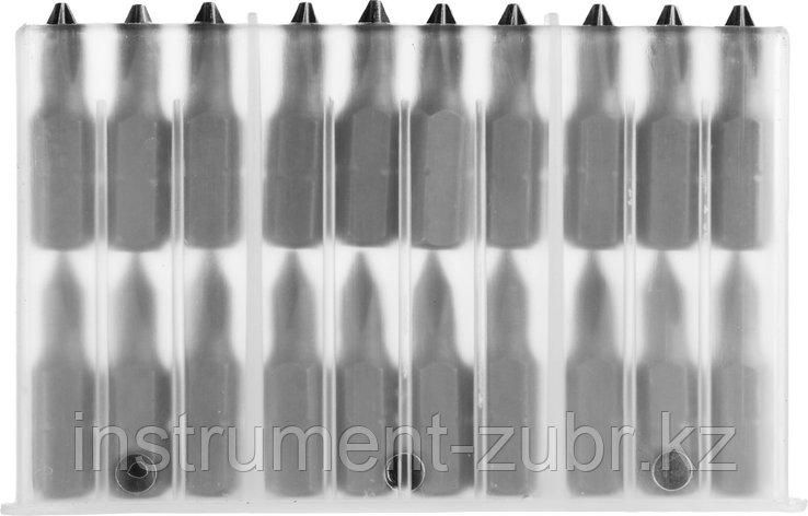 """Биты MIRAX PH№2, тип хвостовика C 1/4"""", длина 25мм, 20шт, фото 2"""