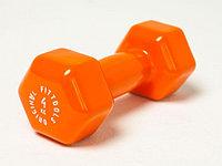 Гантель в виниловой оболочке 4 кг (Цвет - оранжевый), фото 1