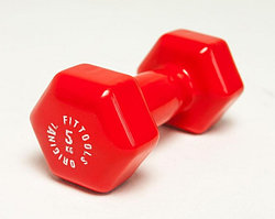 Гантель в виниловой оболочке 5 кг (Цвет - красный)
