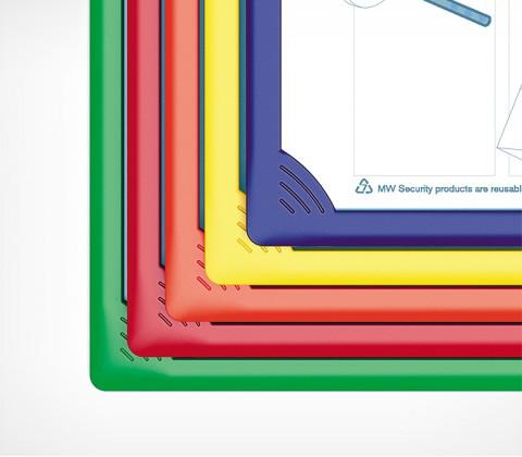 Рамка пластиковая  для перекидной системы INFOFRAME-A4 , цвет красный