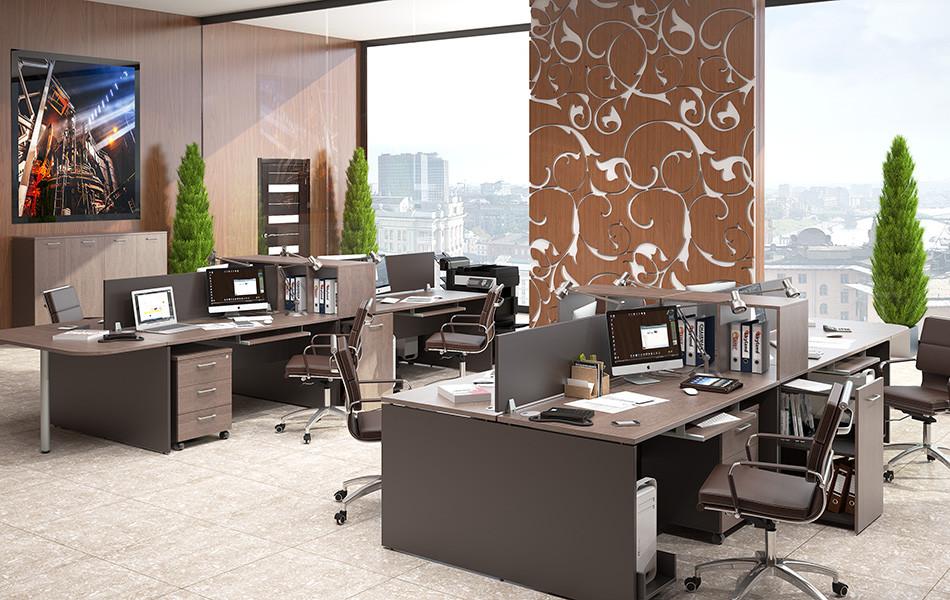 Стол офисный, двойной