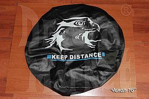 "Чехол на запасное колесо R16 ""Keep Distance"", кожзам"