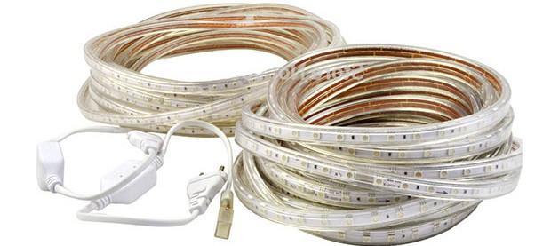 Светодиодная лента 220V 5050 (RGB) бухта - 100м