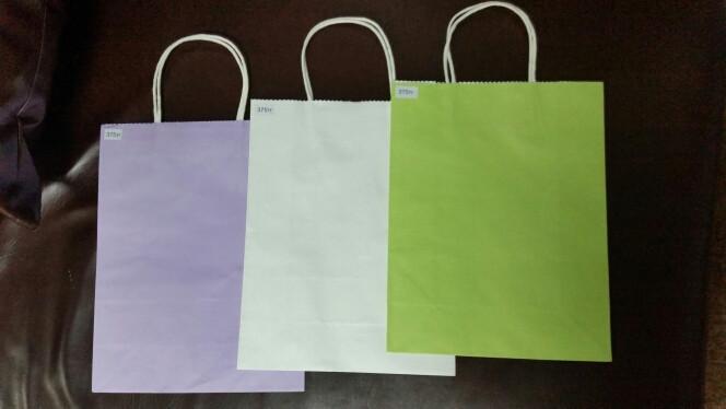 Крафт пакеты цветные  в Астане
