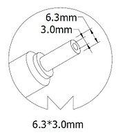 Автоадаптер для ноутбука TOSHIBA 15Вольт 6A 90Вт 6.3*3.0мм