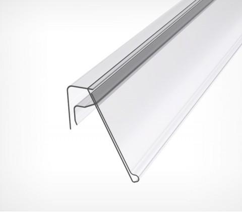 Ценникодержатель на корзины из металлических прутьев KE39 длина 1000 мм., цвет белый